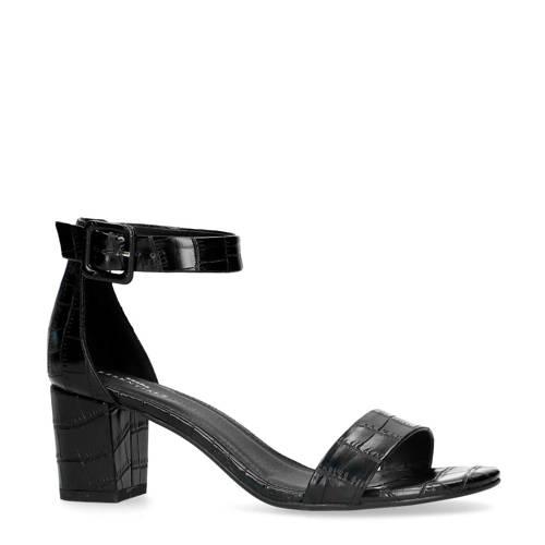 Sacha sandalettes crocoprint zwart