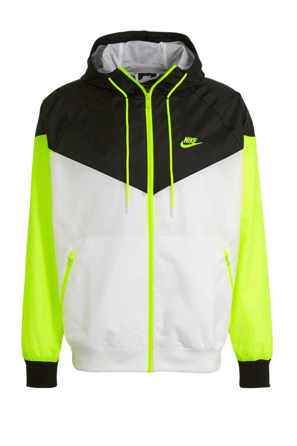 Nike jack blauw/geel/wit, Blauw/geel/wit