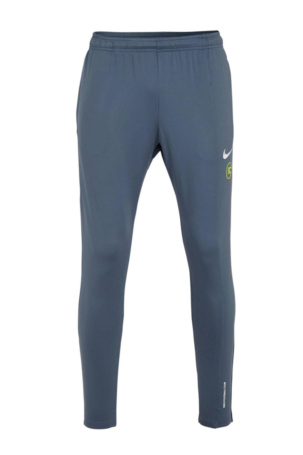 Nike   F.C. voetbalbroek grijsblauw, Grijsblauw