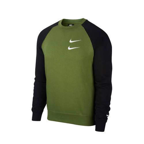 Nike sweater groen/zwart