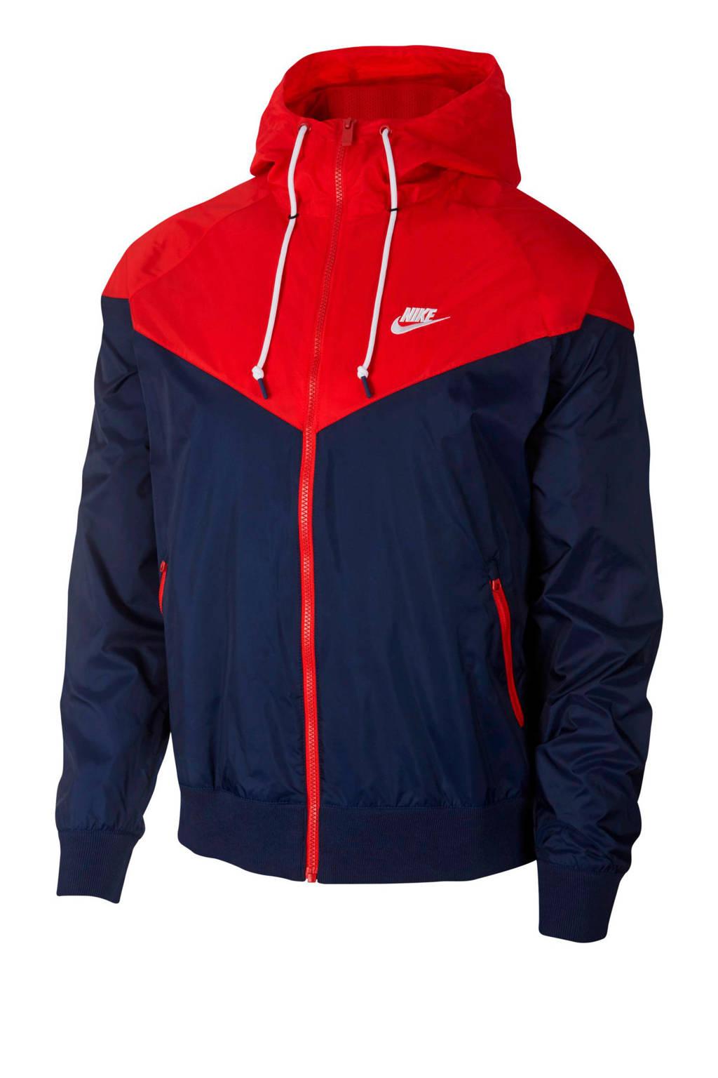 Nike jack rood/blauw, Rood/blauw
