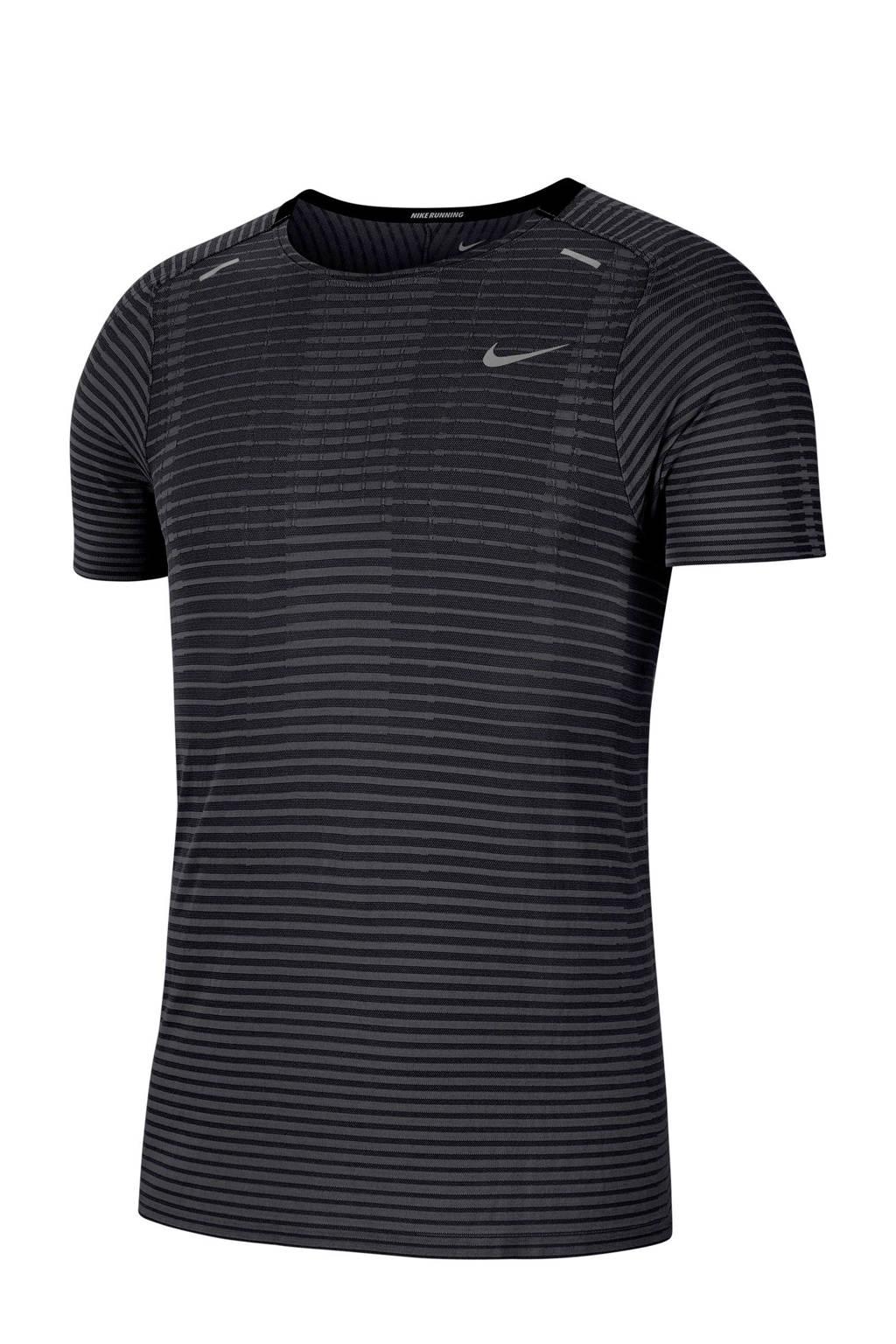 Nike   TechKnit hardloopshirt antraciet, Antraciet