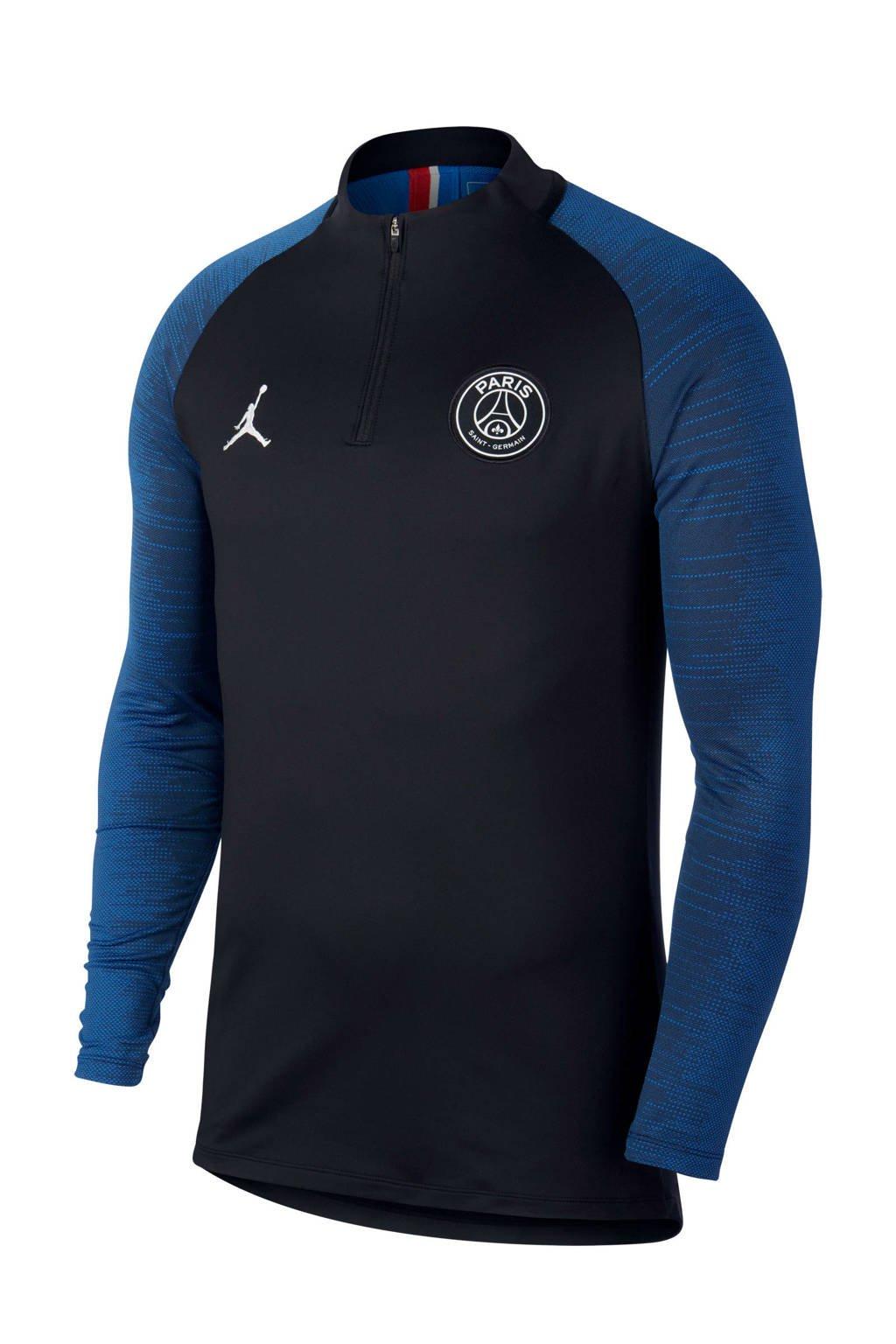 Nike Senior Paris Saint Germain voetbalshirt x Jordan, Zwart/blauw
