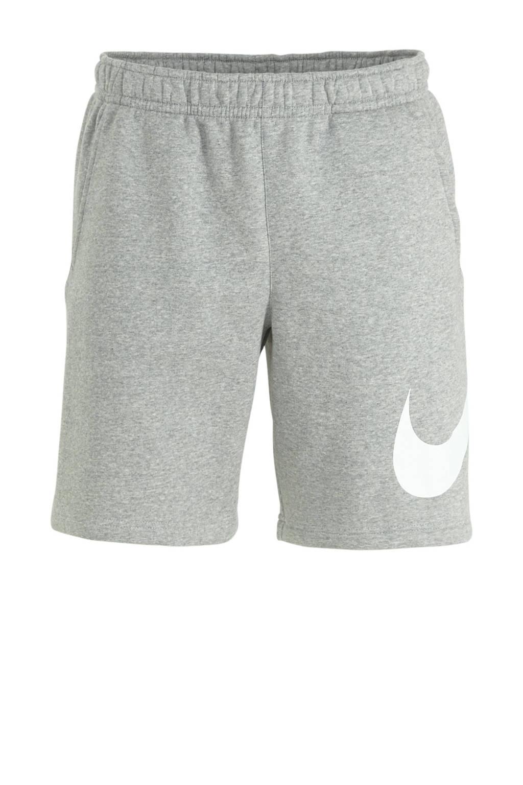Nike   short lichtgrijs, grijs melange/wit/wit