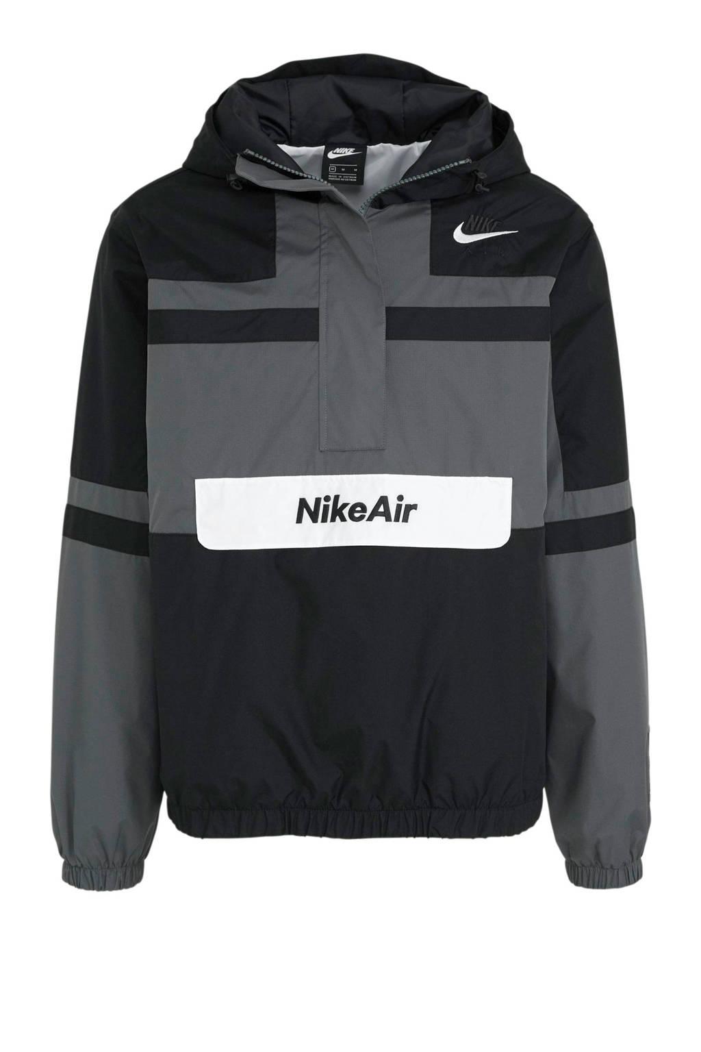 Nike   anorak zwart/grijs, Zwart/grijs/wit