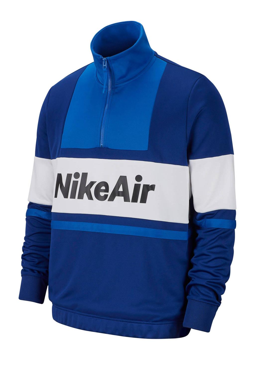 Nike   sweater blauw/wit, Blauw