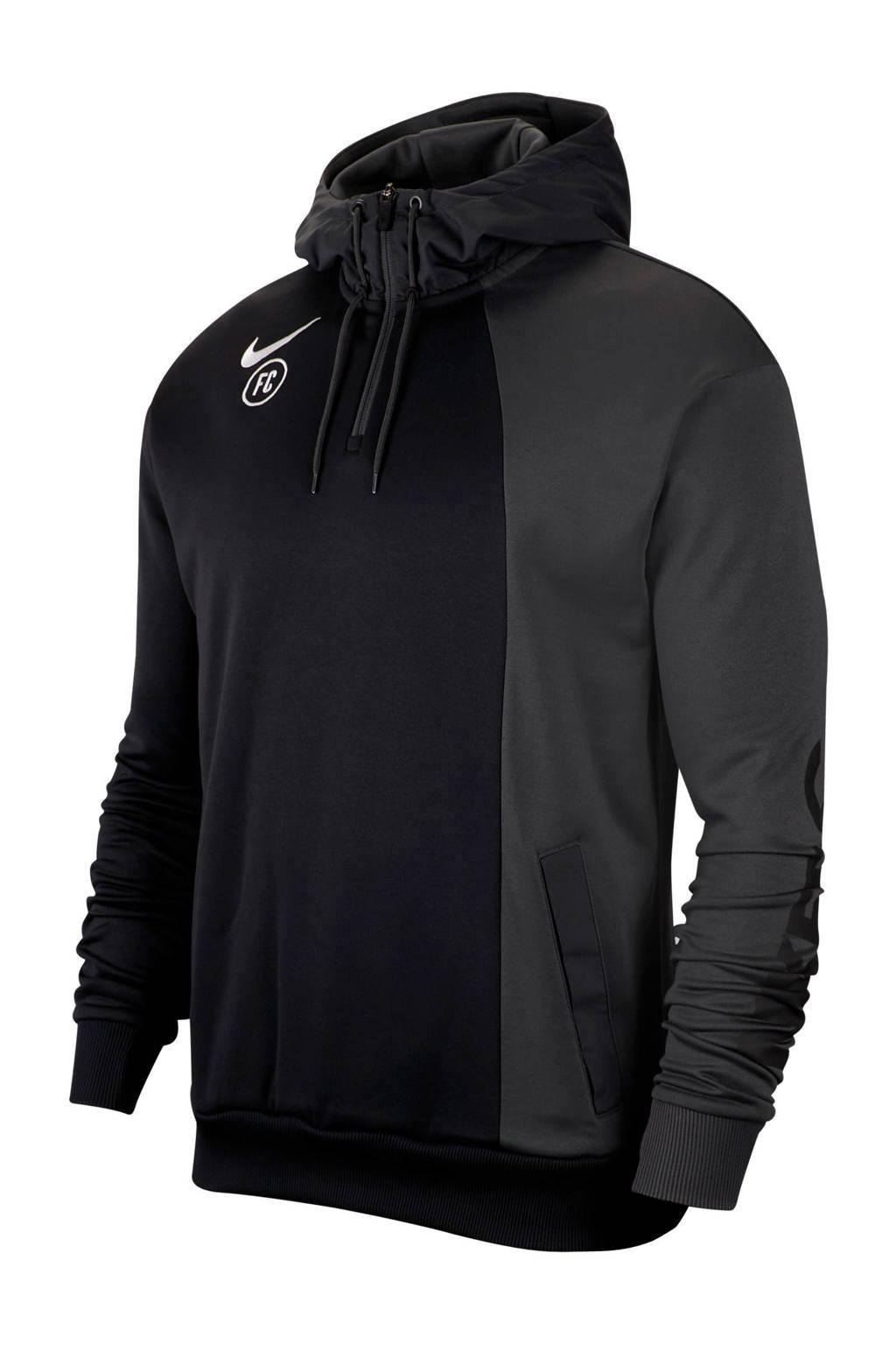 Nike   F.C. voetbalsweater zwart/grijs, Zwart/grijs