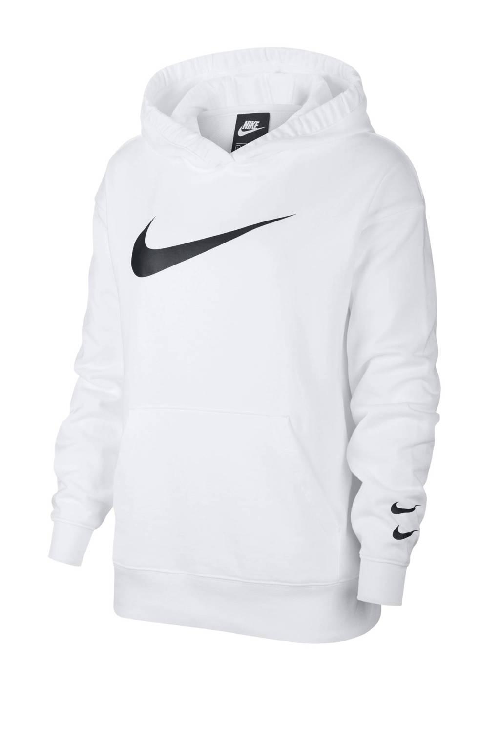 Nike hoodie wit/zwart, Wit/zwart
