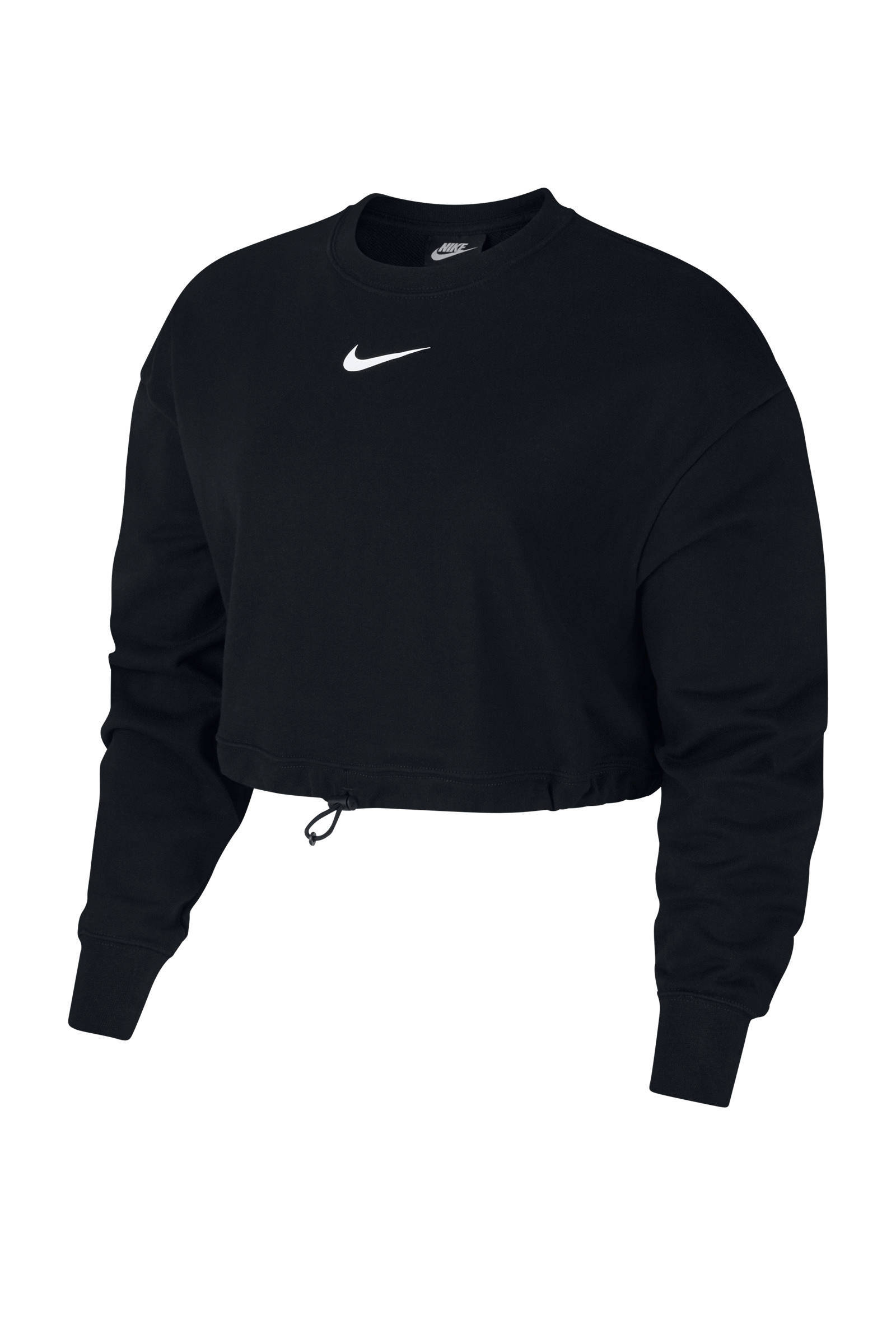 Nike cropped sweater paars | wehkamp