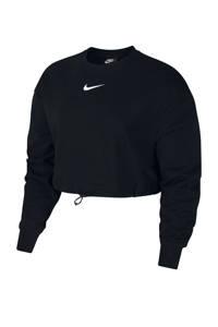 Nike cropped sweater zwart, Zwart