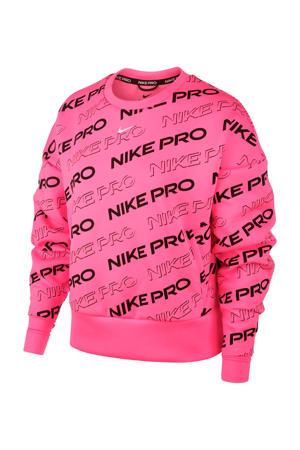 cropped sportsweater roze
