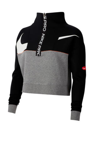 cropped sportvest zwart/grijs