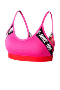 Nike level 2 sportbh roze/rood, Roze/rood