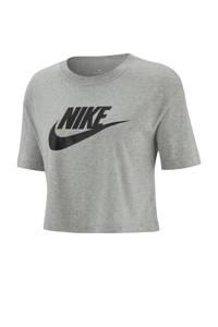 Nike cropped T-shirt grijs, Grijs