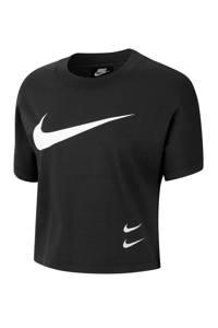 Nike cropped T-shirt zwart, Zwart