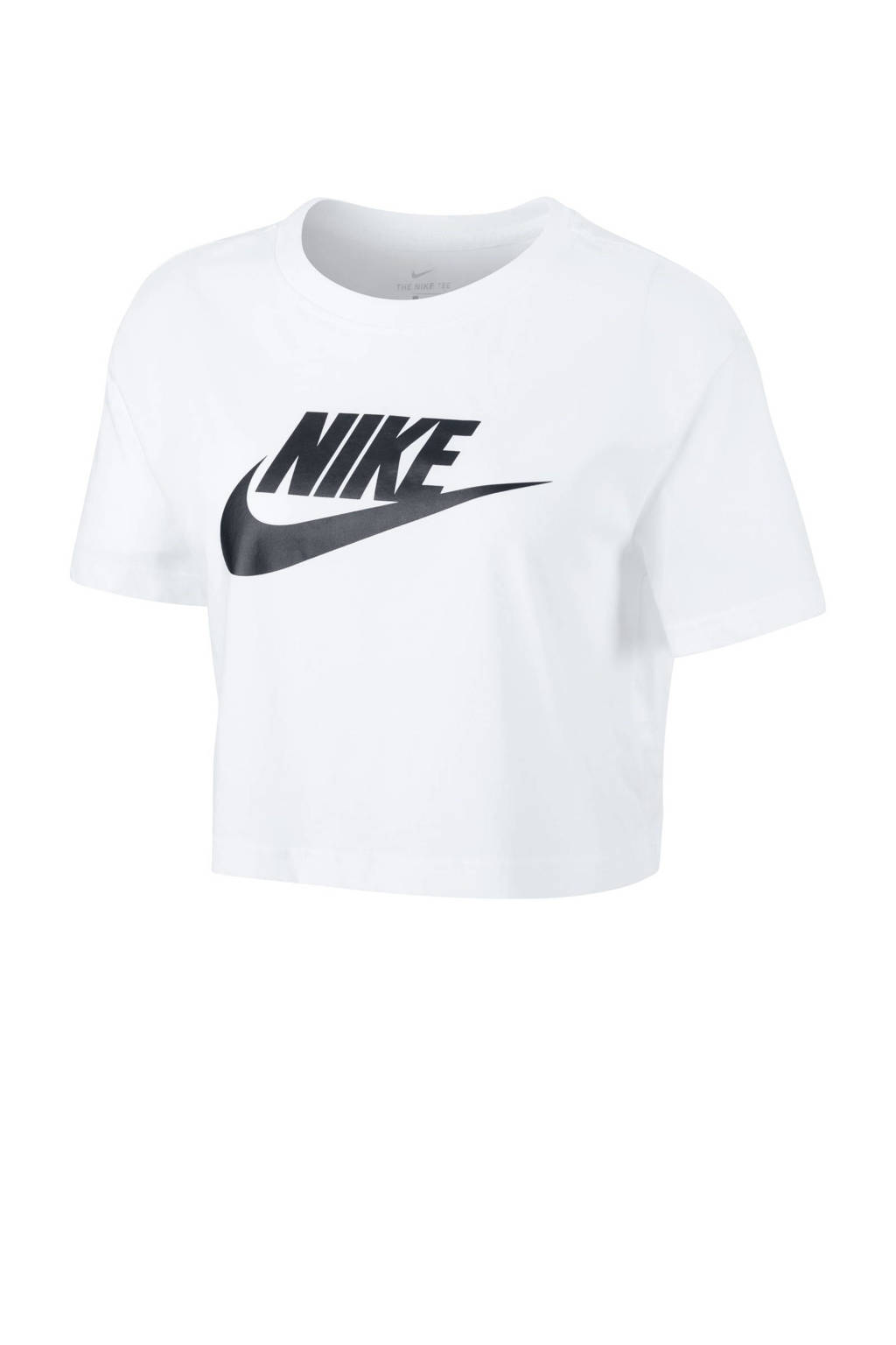 Nike cropped T-shirt wit, Wit