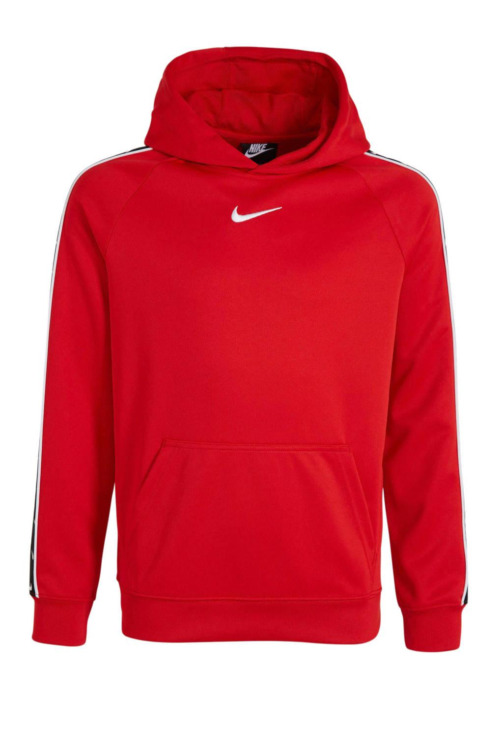 Nike   hoodie rood/zwart, Rood/zwart
