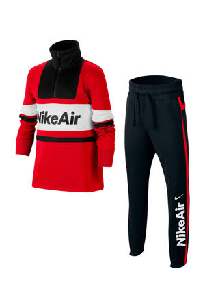 trainingspak rood/zwart/wit