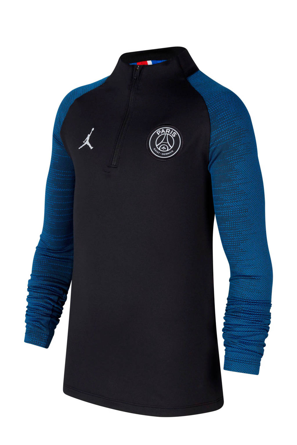 Nike Junior Paris Saint Germain x Jordan voetbalshirt, Zwart/blauw