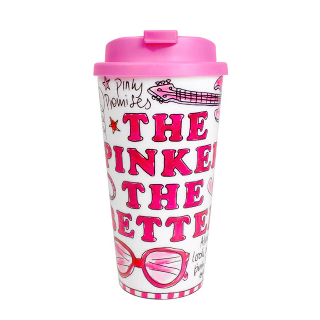 Blond Amsterdam Pink Days mok coffee to go, Multikleur
