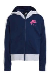 Nike cropped vest donkerblauw/wit, Donkerblauw/wit