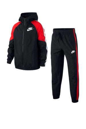 trainingspak zwart/rood