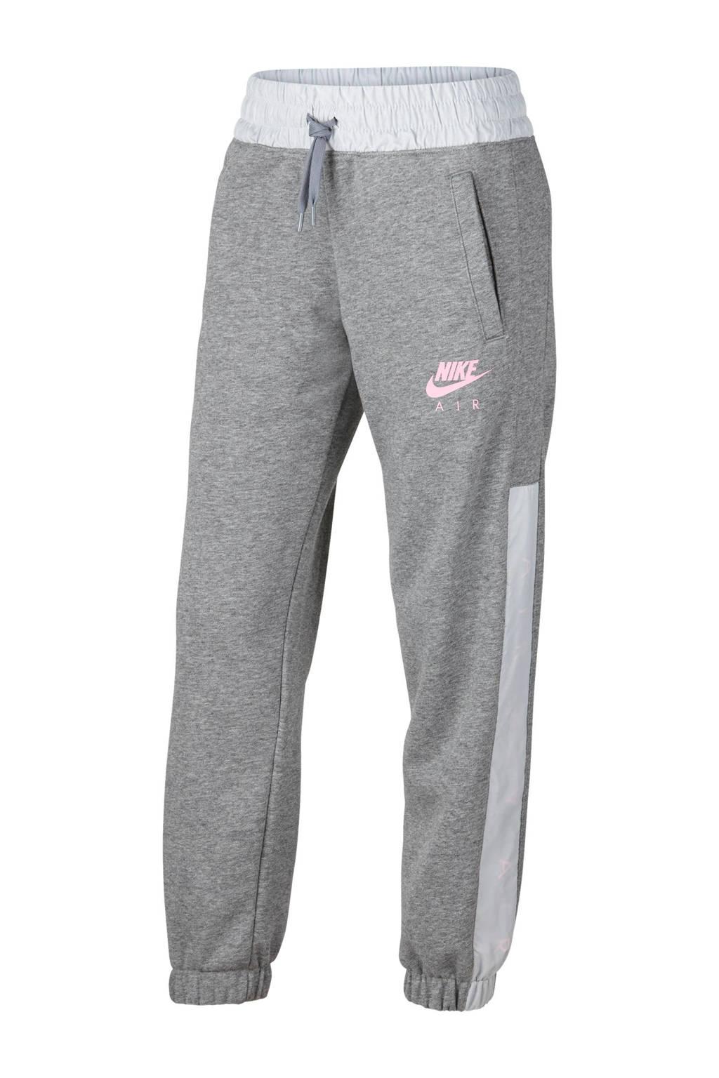 Nike joggingbroek grijs melange/wit, Grijs melange/wit