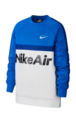 sweater zwart/wit/blauw