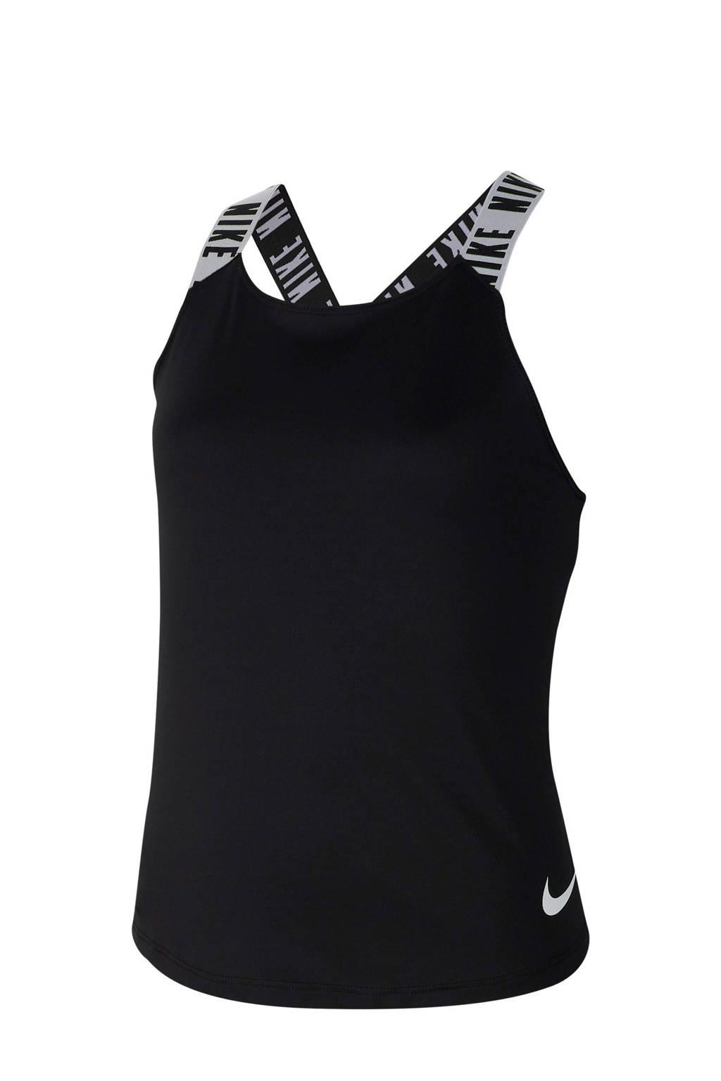 Nike top zwart/wit, Zwart/wit