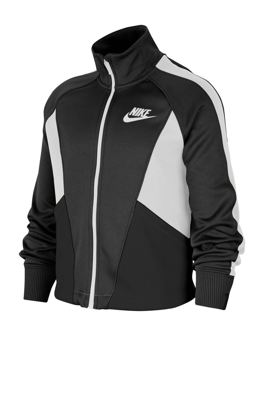 Nike cropped vest zwart/wit, Zwart/wit