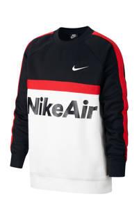 Nike sweater zwart/wit/rood, Zwart/rood/wit