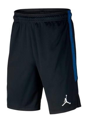 Junior  voetbalshort zwart/blauw