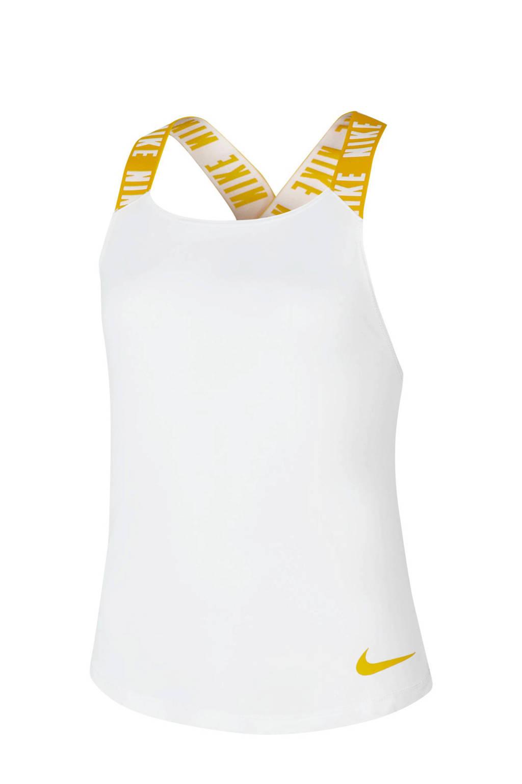 Nike top wit/geel, Wit/geel