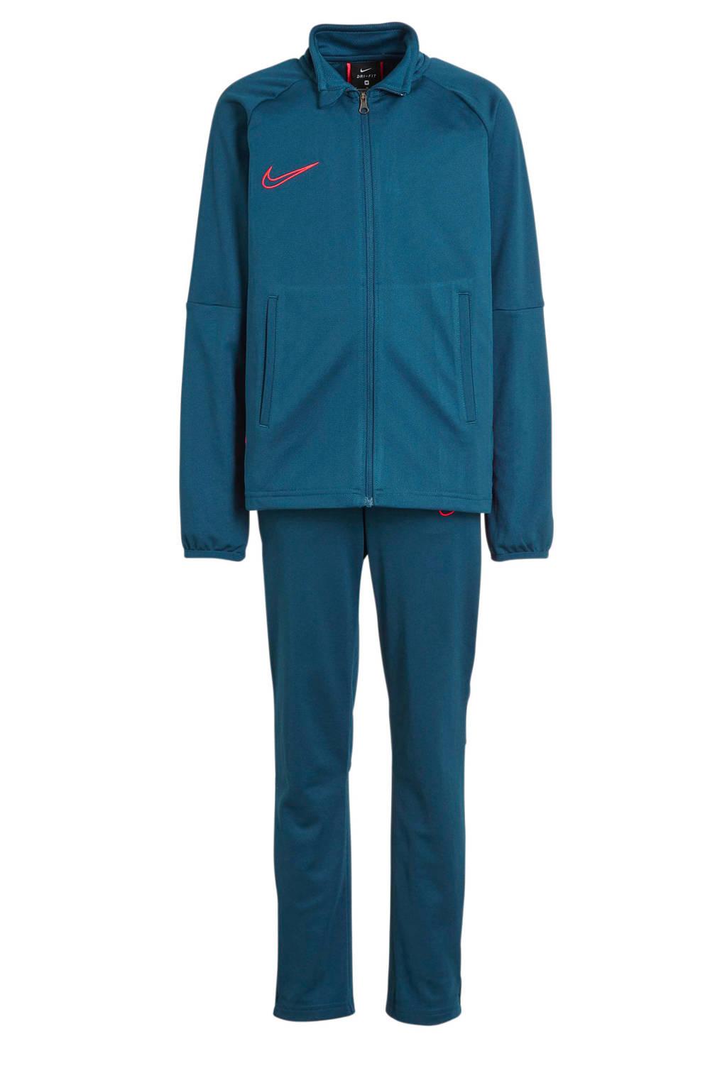 Nike Junior  trainingspak blauw/rood, Petrol/rood