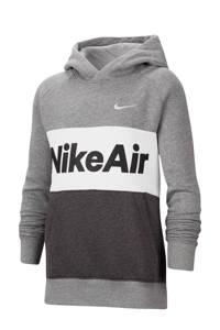 Nike hoodie grijs/wit/zwart, Grijs/wit/zwart