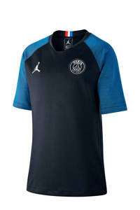 Nike Junior Paris Saint Germain x Jordan voetbal T-shirt, Donkerblauw/blauw