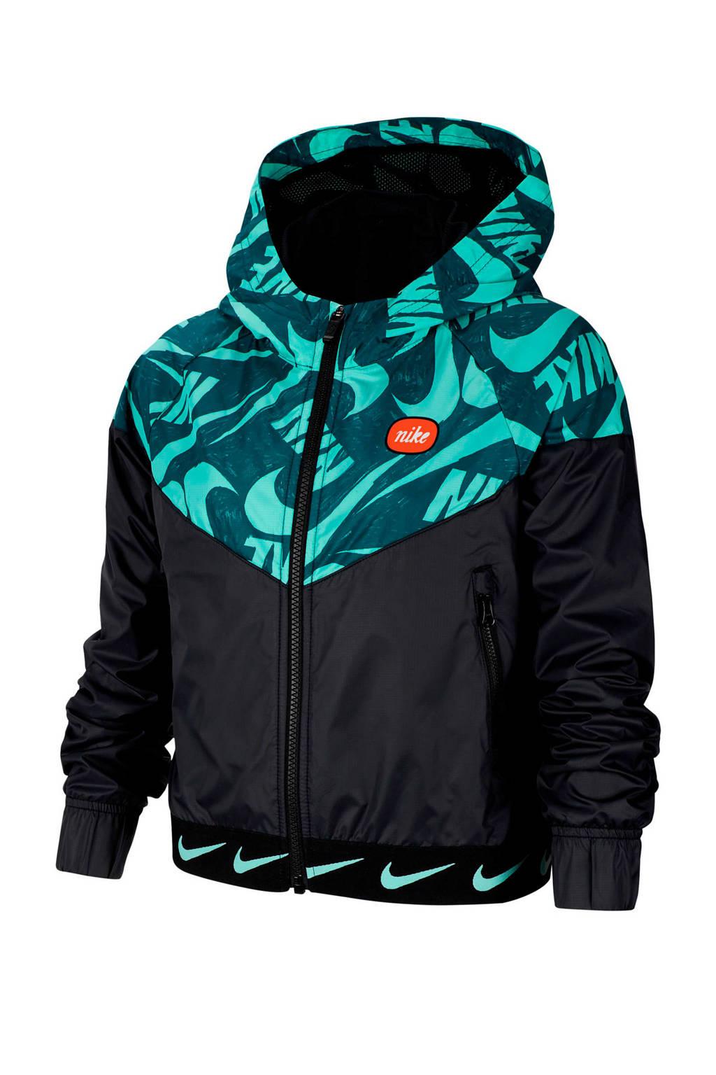 Nike Windrunner jack zwart/groen, Zwart/groen