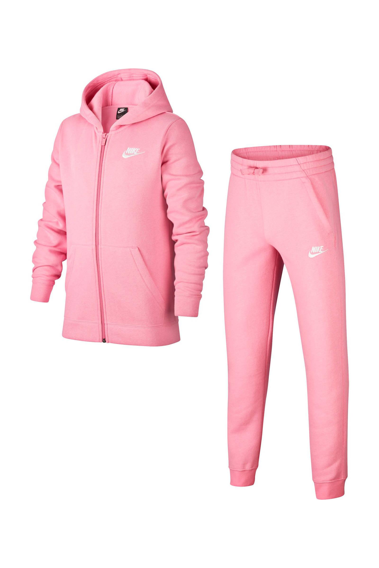 Nike trainingspak roze | wehkamp