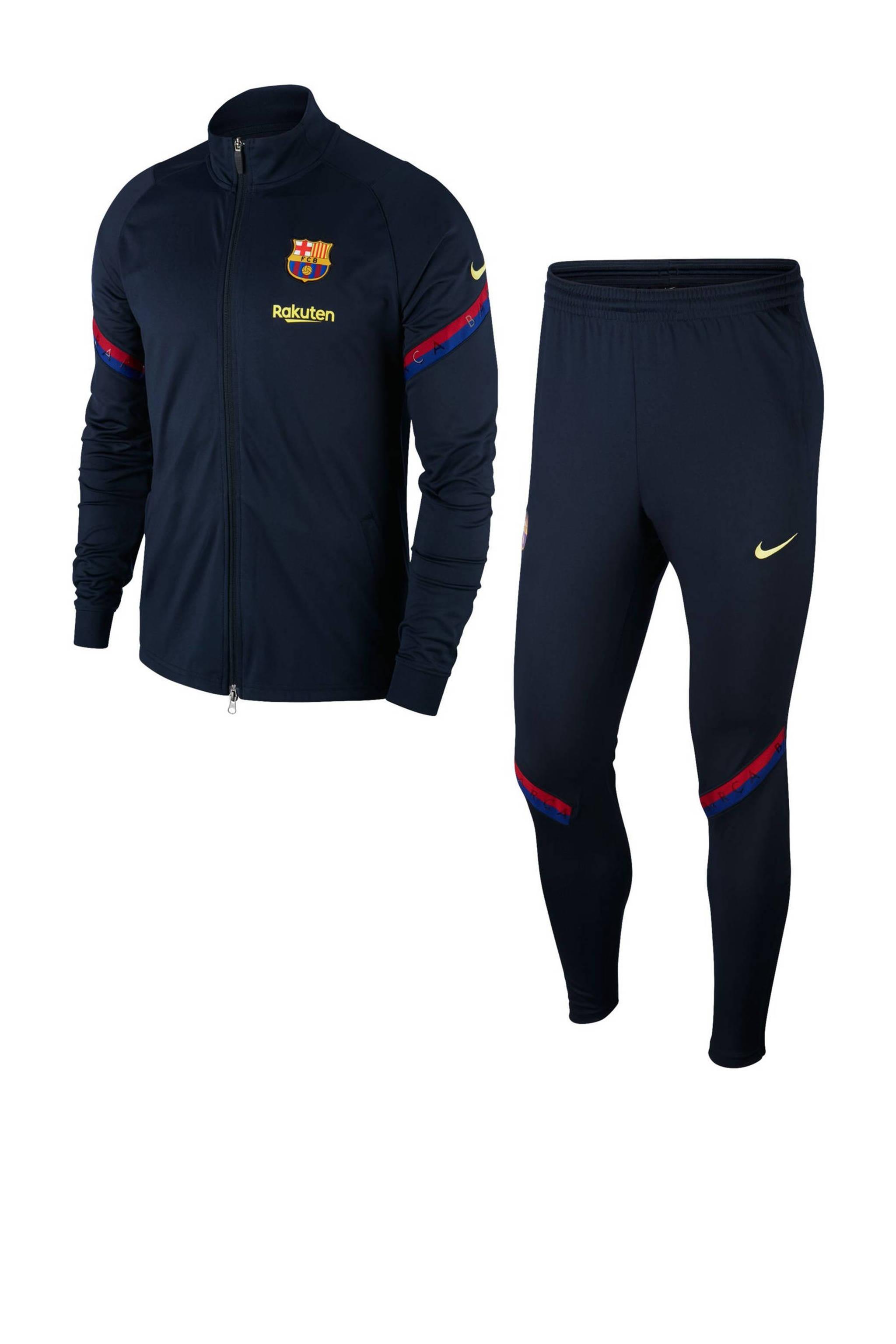 Zitzak Fc Barcelona.Nike Senior Fc Barcelona Trainingspak Donkerblauw Wehkamp