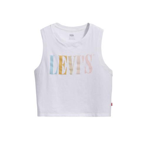Levi's top met tekst wit