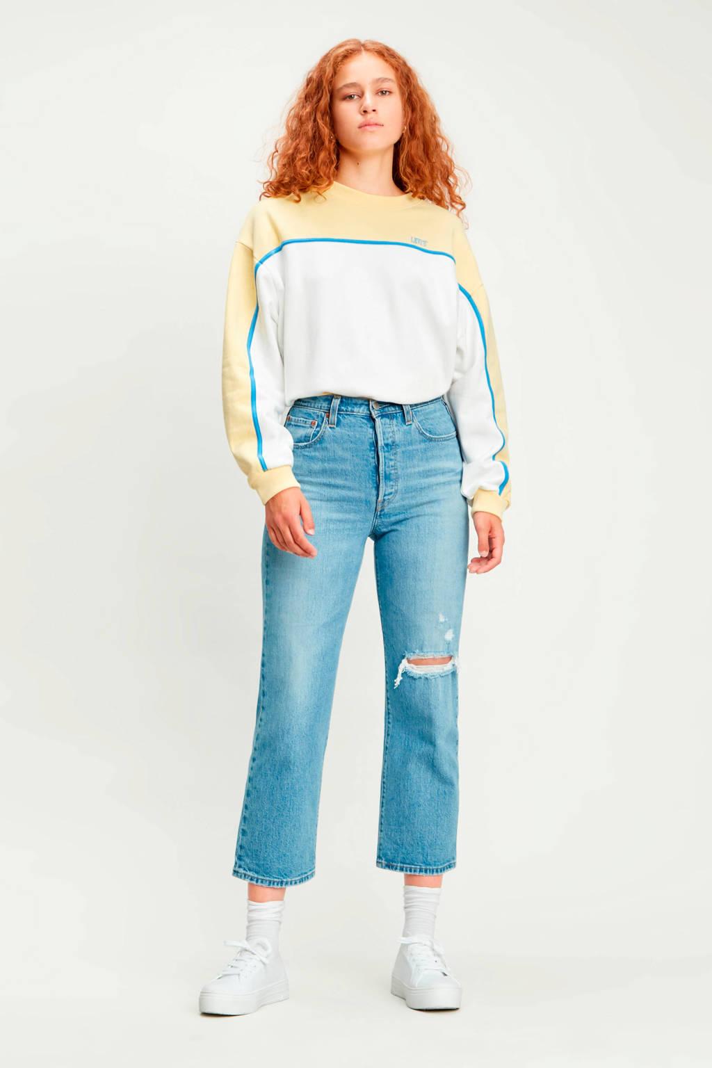 Levi's sweater Celeste wit/geel, Wit/geel
