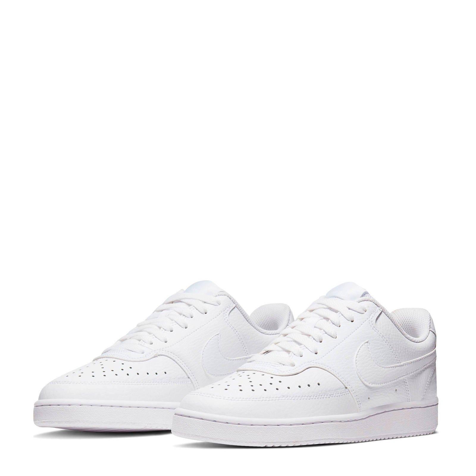 Nike Court Vision Low leren sneakers zwartwit | wehkamp