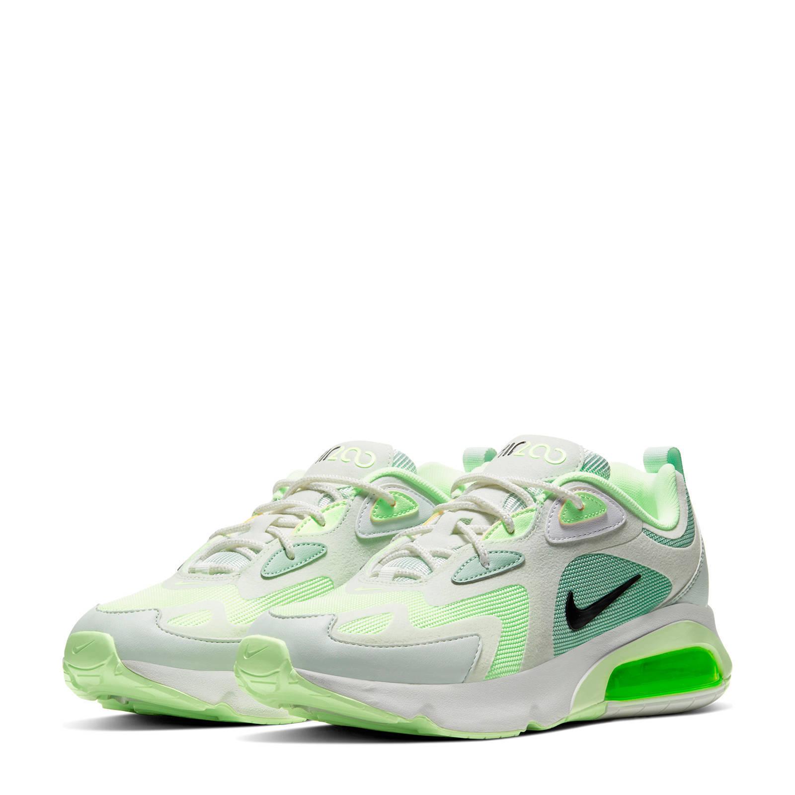 Nike Air Max 200 sneakers wit/groen | wehkamp