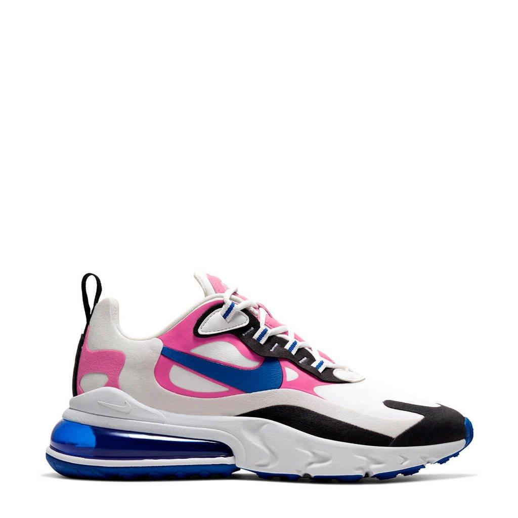 Nike Air Max 270 React sneakers wit/blauw/roze, Wit/kobaltblauw/roze