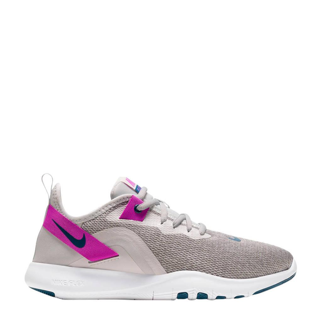 Nike Flex Trainer 9 sportschoenen beige/paars, Beige/paars