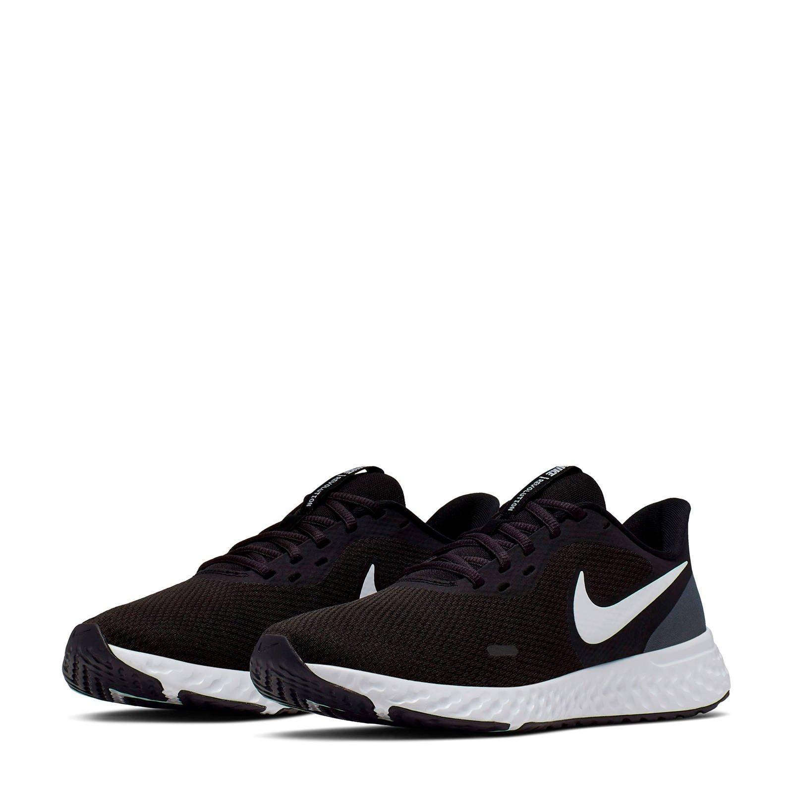 Nike Revolution 5 hardloopschoenen zwart/wit   wehkamp