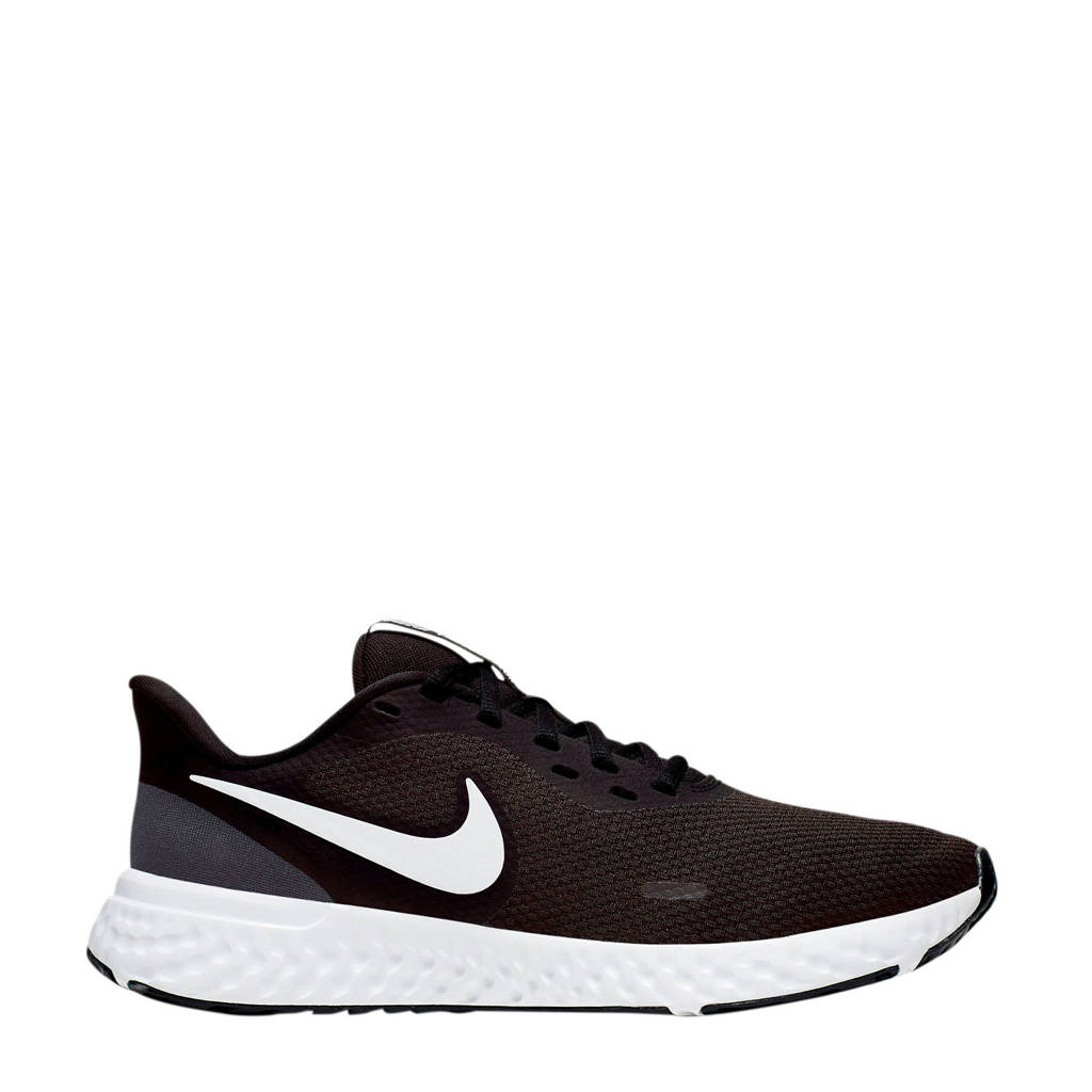 Nike Revolution 5  hardloopschoenen zwart/wit, zwart/wit-antraciet