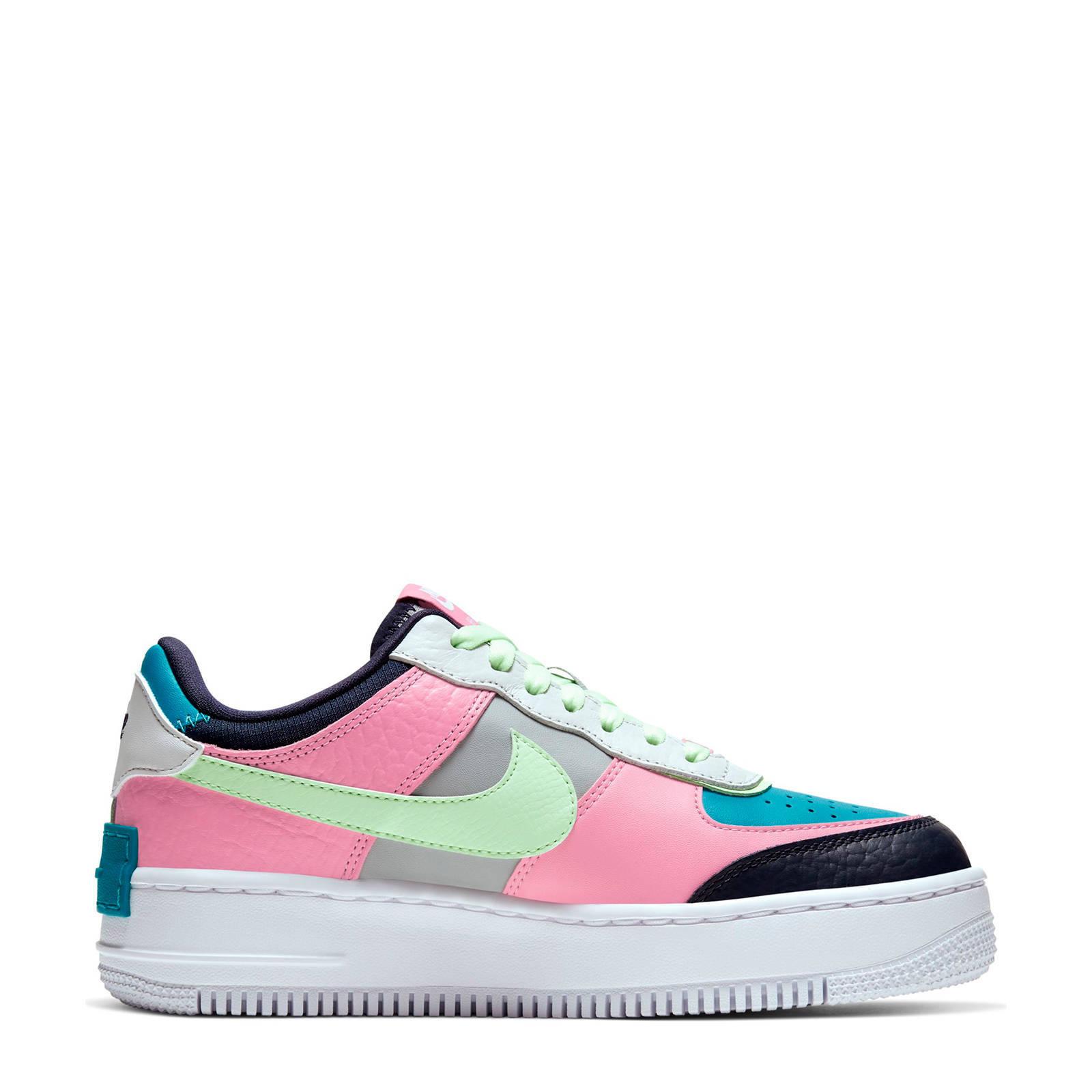Nike Air Force 1 Shadow sneakers grijs/roze/blauw | wehkamp