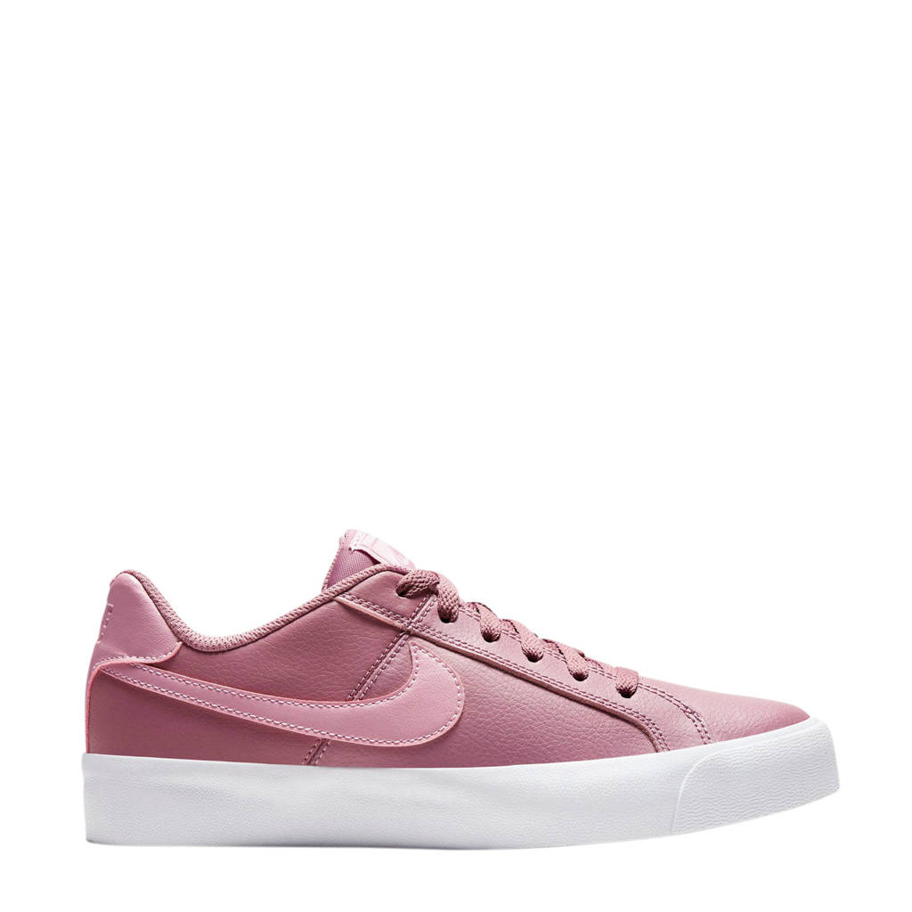 Nike Court Royale AC  leren sneakers mauve/paars, Oudroze/paars