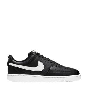 Court Vision Low  leren sneakers zwart/wit